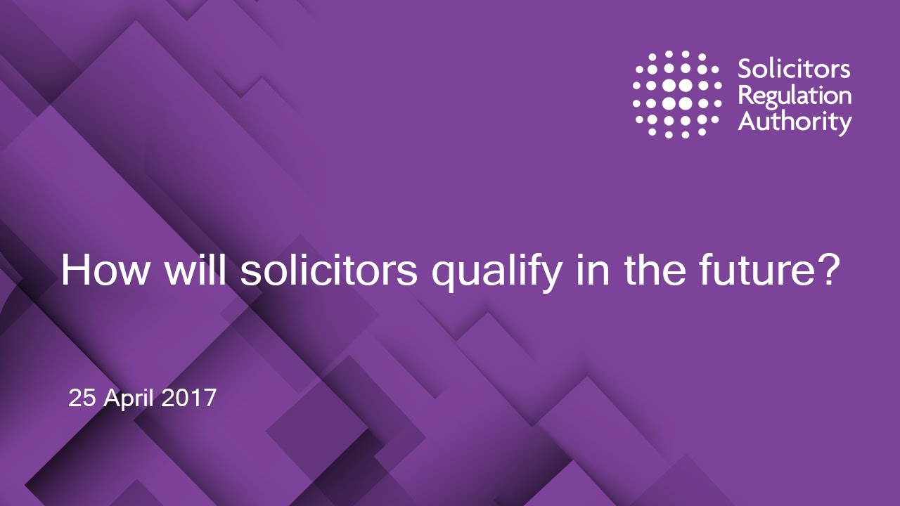SRA | I am a qualified lawyer | Solicitors Regulation Authority