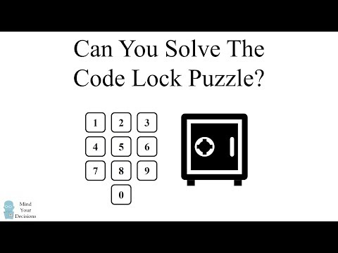 Can You Solve The Code Lock Puzzle?