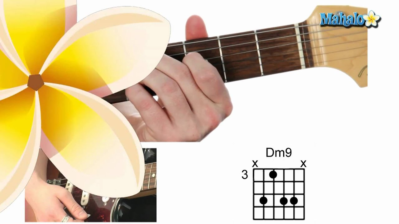 How To Play A D Minor Nine Dm9 Chord On Guitar Youtube