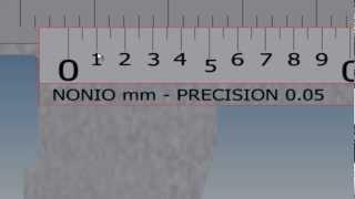 Calibrador precision 0.05 centesimas de mm