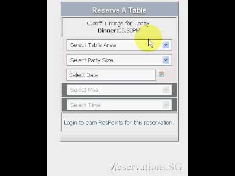 How to make a FREE online restaurant reservation at Reservations.SG