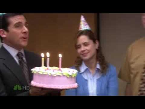 The Office- happy birthday prank - YouTube
