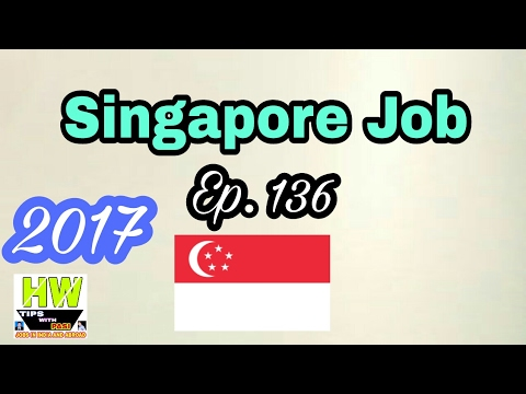 New Job At Singapore With 70K Monthly Salary, Tips In Hindi 2017