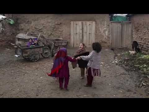 A group of Afghan refugee girls playing in a slum on the outskirts of Islamabad Pakistan