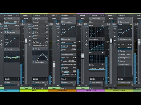 Studio One 3 Tutorial Ita - La Console/Mixer Overview Generale #7 by MixOne