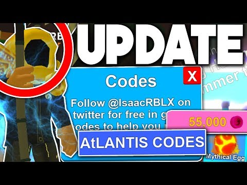 ATLANTIS UPDATE *CODES* & ALL ITEMS!! (INSANE!) - Roblox Mining Simulator (Update)