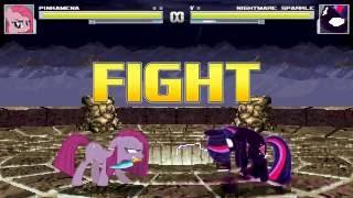 [Mugen] MLP Earth Pony , Unicorn, Pegasus vs NMSparkle (Other Pinkamena VS NM Sparkle)