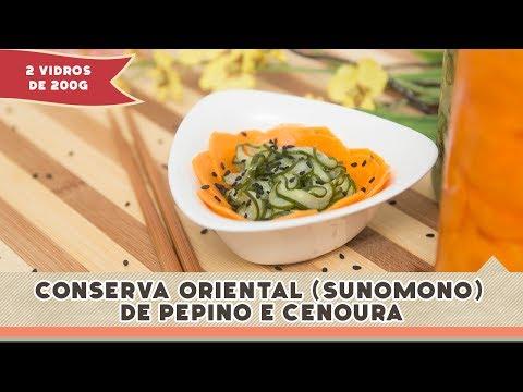 Conserva Oriental de Pepino e Cenoura - Receitas de Minuto EXPRESS #86