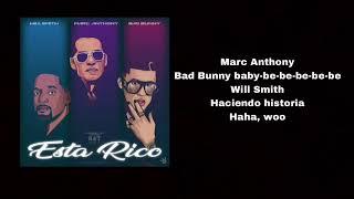 Está Rico  Will Smith Marc Anthony Bad Bunny