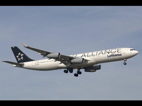 Lufthansa A340-300 *Star Alliance at Frankfurt International Airport