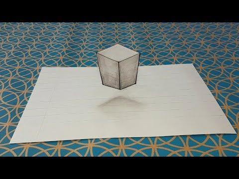 Comment Dessiner Une Illusion D Optique Facile Cube 3d