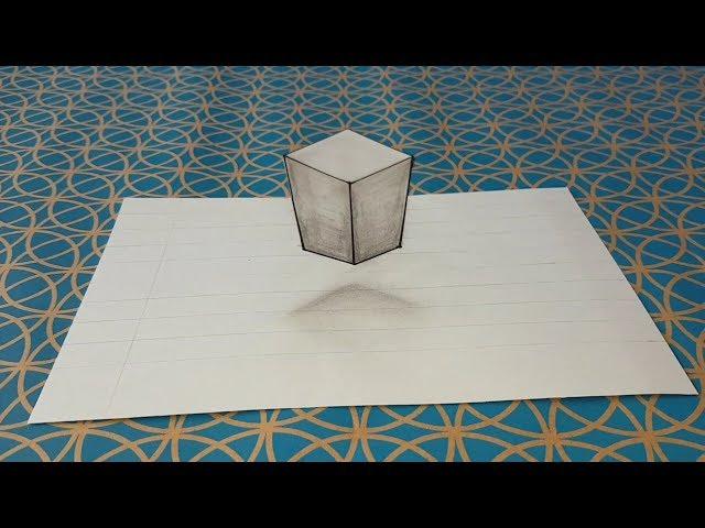 Comment dessiner une illusion d'optique,  facile,  cube 3d