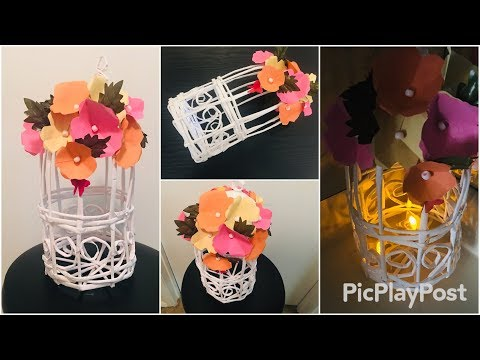 Decorative bird cage room decor|| center piece|| DIY|| paper craft