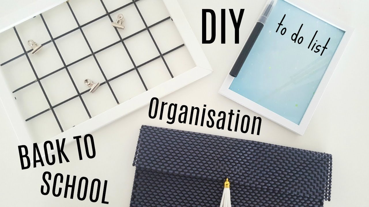 Favori DIY BACK TO SCHOOL ORGANISATION BUREAU AVEC PRESQUE RIEN - YouTube ZV91