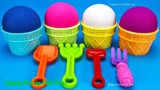 Kinetic Sand Ice Cream Cups Surprise Toys Kinder Eggs Yowie Chupa Chups TMNT, Elephant & Fish Molds