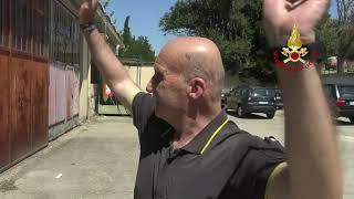 Pensionamento del pompiere fiorentino Alessandro Bennucci: il saluto dei colleghi VIDEO