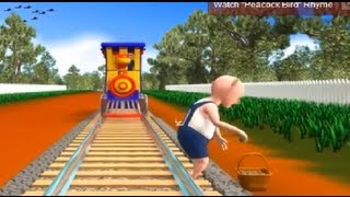 """Piggy On The Railway"" - 3D Nursery Rhyme For Children with Lyrics 