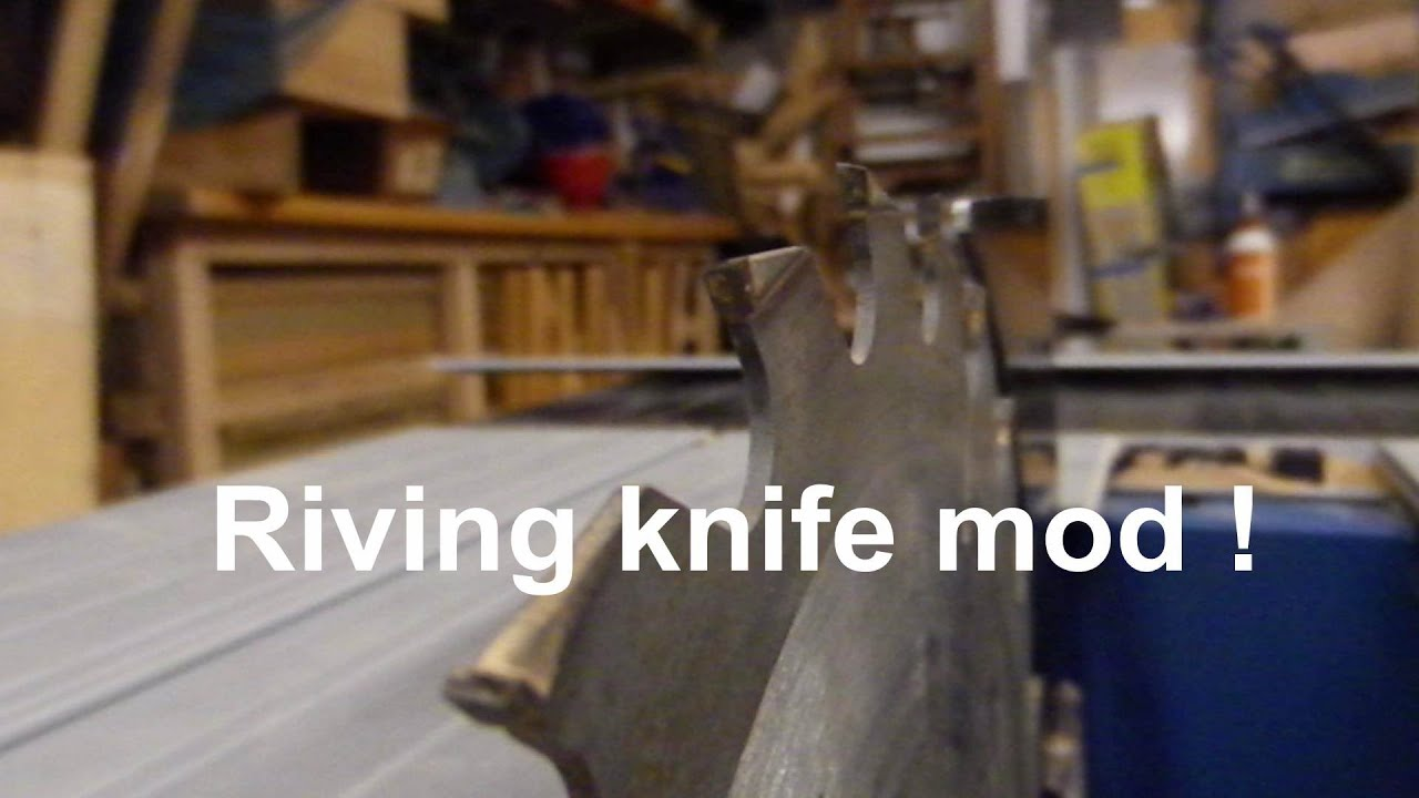 Tablesaw riving knife mod enable non though cuts youtube Table saw splitter