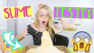 Testing Out VIRAL Slimes Part 3! (It Exploded!) | Sasha Morga thumbnail