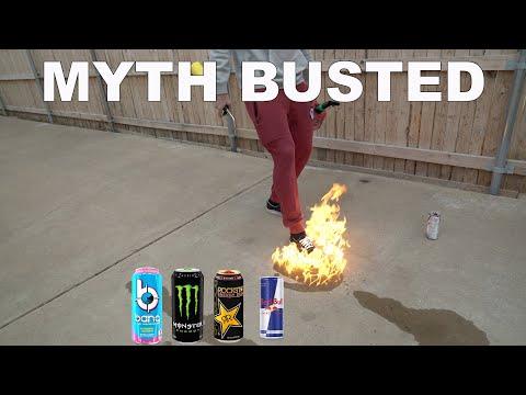 Are Energy Drinks Really Flammable? Bang, Monster, Rockstar, Red Bull!
