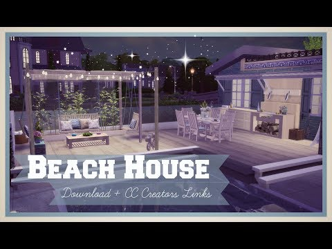 Sims 4 - Luxury Beach House (Download + CC Creators Links) Part1
