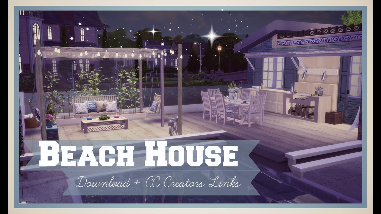 Sims 4   Luxury Beach House (Download + CC Creators Links) Part1