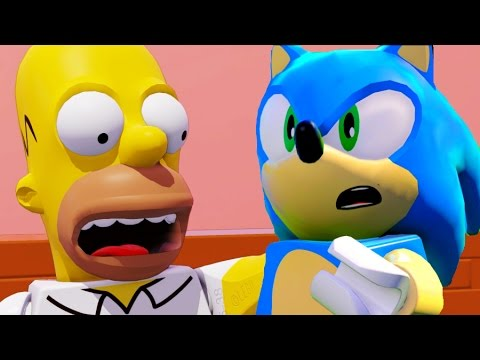 LEGO Dimensions Sonic The Hedgehog & The Simpsons All Cut Scenes & Ending 4k UHD 2160p