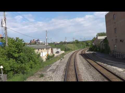 REAR VIEW - Amtrak's Empire Builder - Departing Milwaukee, WI