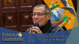 Enlace Ciudadano 477 desde la Sala de Sesiones Vicepresidencia - Quito 28/05/2016