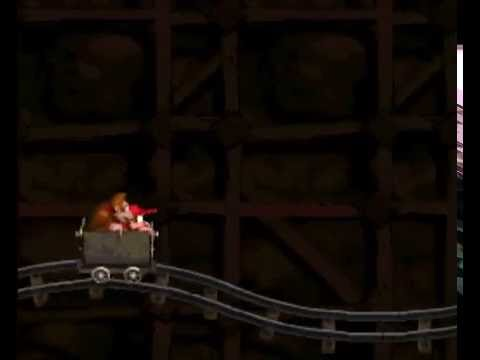 Donkey Kong Country: 101% - Level 2-2: Mine Cart Carnage