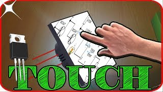Touch switch circuit using transistor MOSFET for any electronic projects - Stafaband
