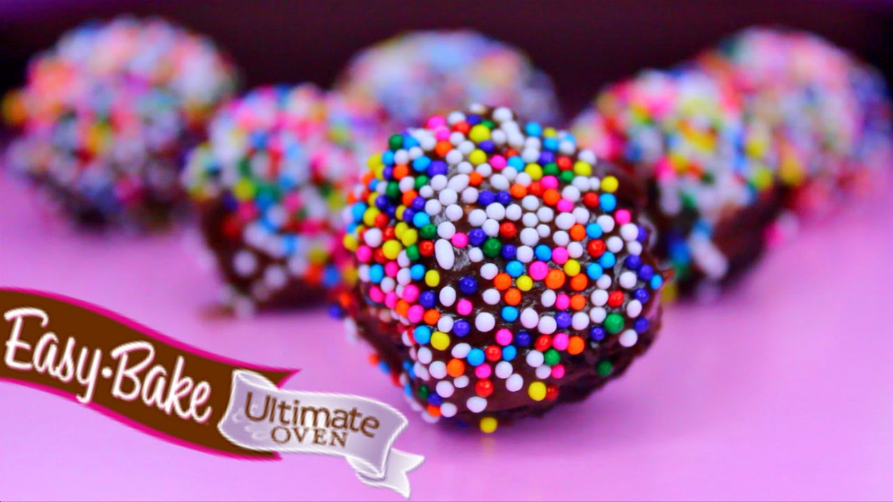 Easy Bake Oven Baking Mini Chocolate Truffles Youtube