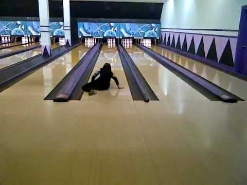Girl Falls Down Bowling Fail Youtube