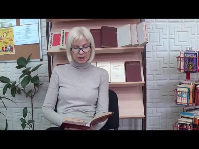 Изображение предпросмотра прочтения – ОльгаАбдулина читает произведение «А вымогли бы? (Ясразу смазал карту будня…)» В.В.Маяковского