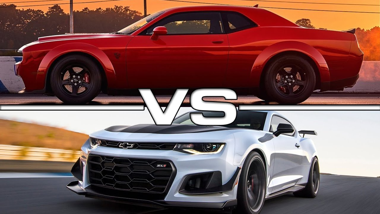 2018 Dodge Challenger Srt Demon Vs 2018 Chevrolet Camaro