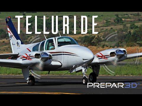 Prepar3D - Milviz Baron B55- Landing at Talluride Regional - TrackIR