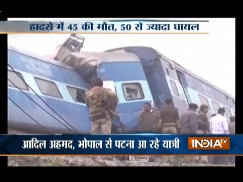 Patna-Indore Express Derails near Kanpur, Death Toll Rises to 45