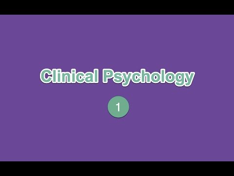 Clinical Psychology 1.1