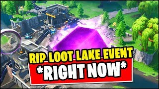 LOOT LAKE DESTROYED *RIGHT NOW* (Fortnite) - SEASON 9 LIVE EVENT POLAR PEAK MONSTER