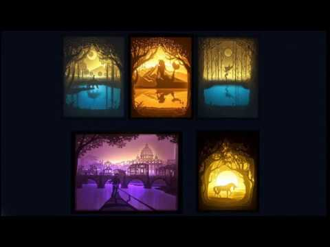 how to make papercut light boxes youtube. Black Bedroom Furniture Sets. Home Design Ideas