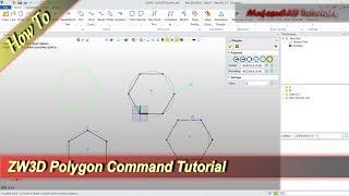 ZW3D Polygon Command Basic Tutorial For Beginner