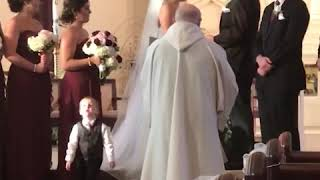Kids add some comedy to a wedding! - Ring Bearer Fails