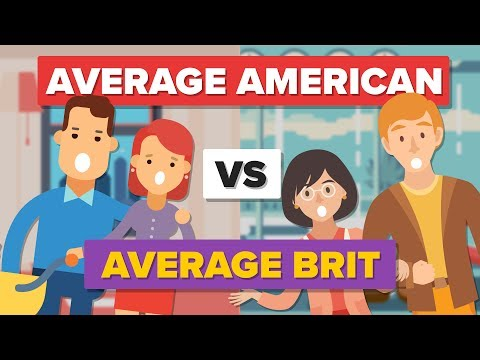 Average American vs Average Brit (2017) - How Do They Compare? - People Comparison
