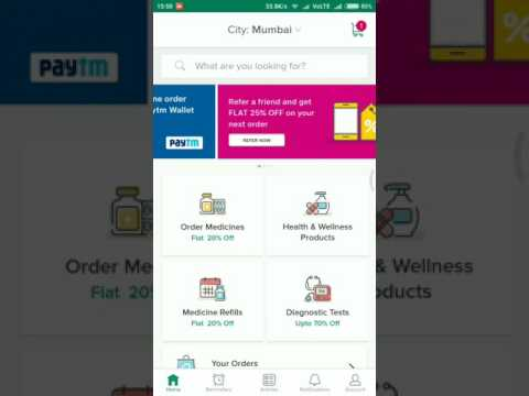 Order Medicines 💊Online At Discount for 20% - 25% From PharmEasy App.