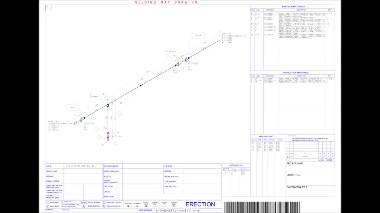 Weld mapping examples