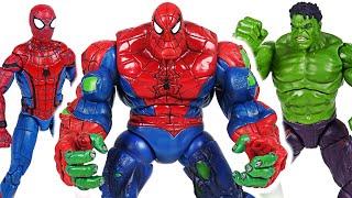Marvel Avengers Hulk and Spider Man combine! Spider-Hulk!! Defeat the Thanos! | DuDuPopTOY