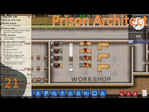 Prison Architect Ep 21 - Making License Plates