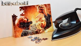 How to Print Bahubali 2 Photo on Puzzle at Home Using Electric Iron