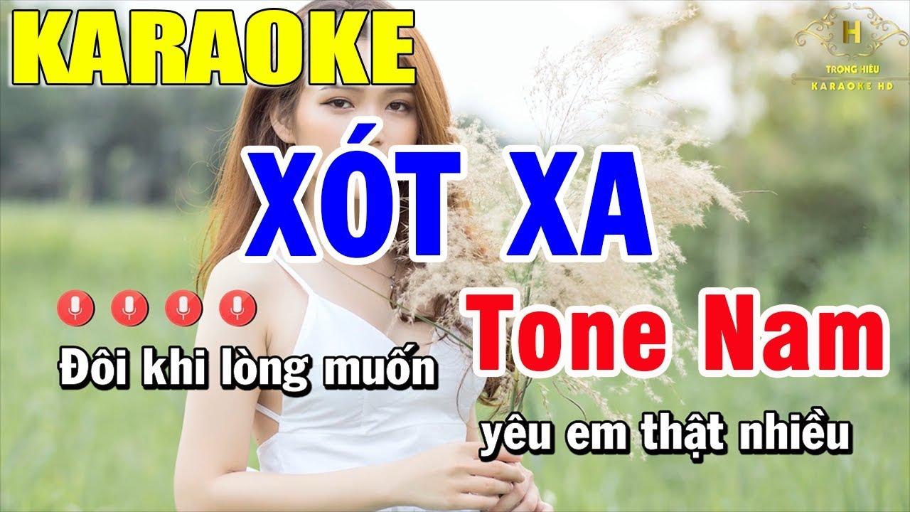 Karaoke Xót Xa Tone Nhạc Sống | Trọng Hiếu