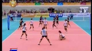 Repeat youtube video Thailand vs Indonesia - set 2 - Women Volleyball - 26th SEA GAMES